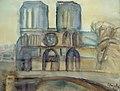 Clara Vogedes - Paris, Notre-Dame nach der Ostermesse, 1976.jpg