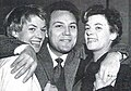 Claudio villa e il duo fasano nel 1954.jpg