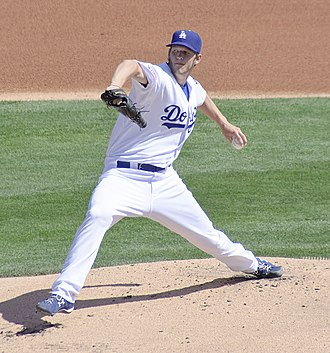 Dodgers–Giants rivalry - Image: Clayton Kershaw 2010 (1)
