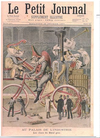 Paris Carnival - The giant clown of the Paris carnival, 1897