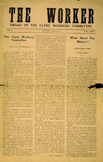 Clyde Workers' Committee - January 1916 edition of The Worker