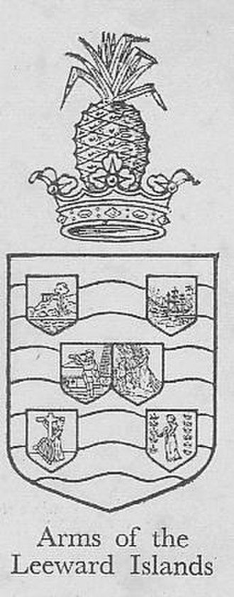British Leeward Islands - Image: Coat of arms of British Leeward Islands 1909