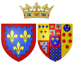Description de l'image Coat of arms of Princess Caroline of Naples and Sicily as Duchess of Berry.png.