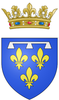 Coat of arms of the Duke of Orléans (as prince of the blood).png