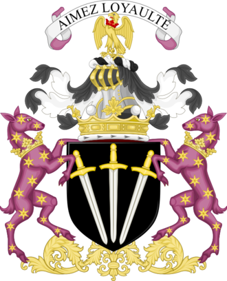 Pantheon (mythical creature) - Coat of arms of the marquess of Winchester