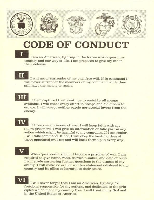 File Code Of Conduct United States Military Pdf
