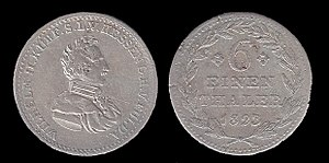 William II, Elector of Hesse - Image: Coin of William II, Elector of Hesse