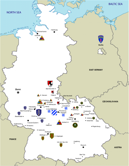 List Of United States Army Installations In Germany Wikiwand - Map of us army bases
