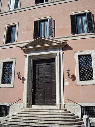 San Giovanni a Porta Latina - Entrance to the adjacent Collegio Rosmini