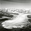 Columbia Glacier, Calving Terminus with Oblique View of Valley Glacier, Terentiev Lake, September 3, 1974 (GLACIERS 1233).jpg