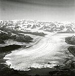Columbia Glacier, Calving Terminus with Oblique View of Valley Glacier, Terentiev Lake, September 3, 1974 (GLACIERS 1233).jpg