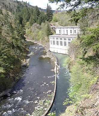 White Salmon River - Image: Condit Powerhouse