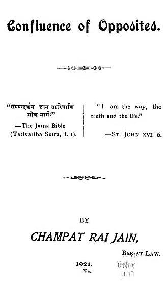 Champat Rai Jain - Image: Confluence of opposites
