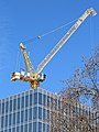 Construction tower crane, Little Britain, City of London, England.jpg