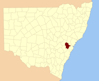 Cook County, New South Wales - Location in New South Wales