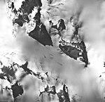 Cooper Glacier, icefield source of valley galcier, and bergschrund, September 17, 1966 (GLACIERS 6458).jpg