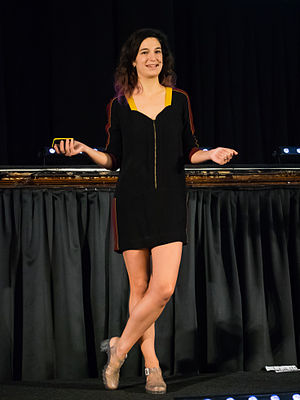 Coralie Colmez - Coralie Colmez speaking at QEDCon conference in 2014
