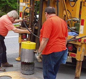 Core drill - Truck mounted core drill