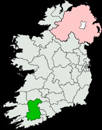 Ballyvourney - Cork North-West constituency.
