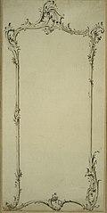 Design for a Rococo mirror frame