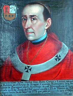 Pedro Cortés y Larraz Spanish Catholic priest; Archbishop of Guatemala
