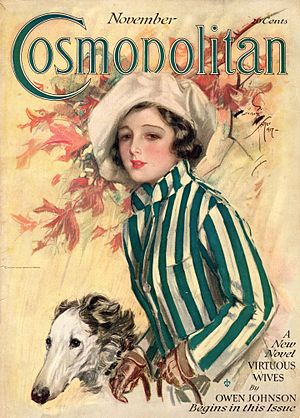 Cosmopolitan (magazine) - November 1917 issue of Cosmopolitan, cover by Harrison Fisher