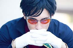 Cosplayer of Gendo Ikari 20100919b.jpg