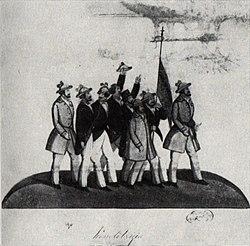 Costache Petrescu - Grupul de manifestanti pentru revolutie la 1848.jpg