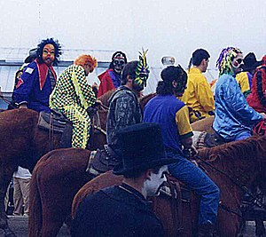 Courir de Mardi Gras - Masked riders in Mamou