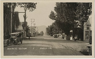 Covelo, California - Downtown Covelo ca. 1920