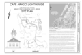 Cover Sheet and Site Plan - Cape Arago Lighthouse, Gregory Point, Charleston, Coos County, OR HABS OR-189 (sheet 1 of 7).png
