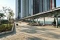 Covered walkway to Nam Cheong Station 201811.jpg