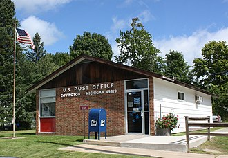 Covington, Michigan - Image: Covington Michigan Post Office US141