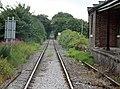 Crakehall old railway station & crossing, view east to Bedale, Wensleydale Railway, Yorkshire.jpg