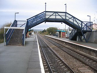 Craven Arms railway station - Craven Arms railway station, looking north