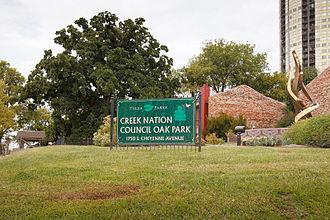 Creek Council Oak Tree - Creek Council Oak in 2012. Courtesy W. R. Oswald