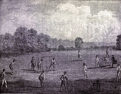 Cricket, WG Grace, 1891- Royal Academy in Marylebone Field.jpg