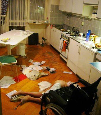 English: A crime scene. .