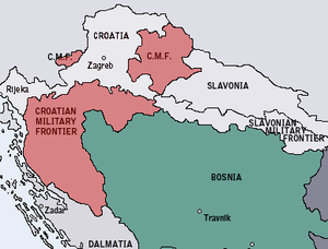 Croatian Military Frontier - Croatian Military Frontier in 1868