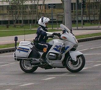Law enforcement in Croatia - Image: Croatian police motorcycle (3)