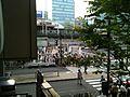 Crosswalk between Yodobashi Camera Akihabara south-west entrance and Akihabara Station Chūō entrance, viewed from Atré vie Akihabara (2010-08-15 17.21.42).jpg