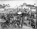 Crowd at entrance gate to the Lewis and Clark Exposition on Portland Day, Portland, Oregon, 1905 (AL+CA 1944).jpg