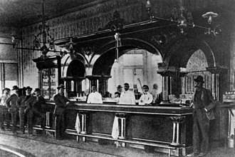George E. Goodfellow - Dr. Goodfellow's office was on the second floor of the Crystal Palace Saloon, seen here in 1885.