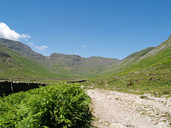 Cumbria Way passes through Mickleden.jpg