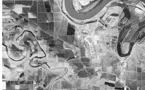 Cummins Unit - Aerial view of the Cummins and Varner units, U.S. Geological Survey, February 28, 2001