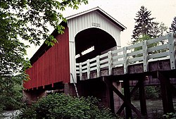 Photograph of the Currin Bridge.