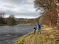 Cycling by the River Tweed - geograph.org.uk - 670797.jpg