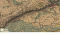 Détail de la carte d'État-Major de la Côtière (Ain), 1841, colorisée.png