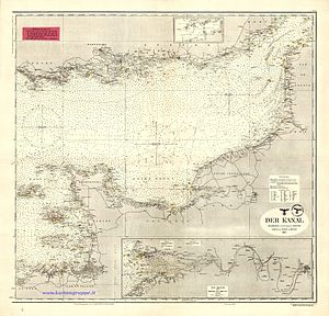 Operation Sea Lion - The Channel (Der Kanal), D.66 Kriegsmarine nautical chart, 1943
