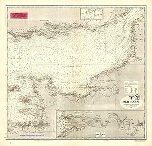 Operation Sea Lion - The Channel (Der Kanal), D.66 Kriegsmarine nautical chart, 1943